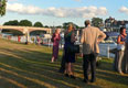 Riverside Drinks Reception, Hampton Court Bridge in the background